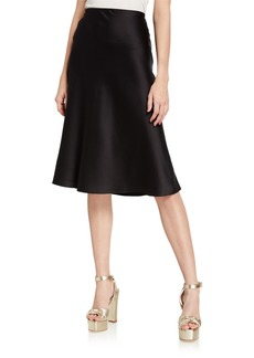 Neiman Marcus Satin Slip Skirt