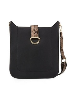 Neiman Marcus Scout Faux-Leather Crossbody Bag