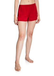 Neiman Marcus Silk Lounge Shorts