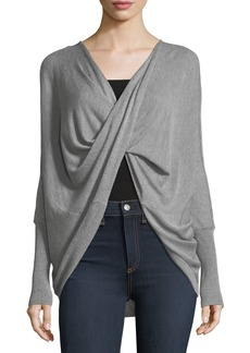 Neiman Marcus Silk/Cashmere Crisscross Knit Tunic