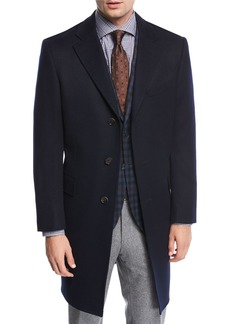 Neiman Marcus Single-Breasted Cashmere Top Coat