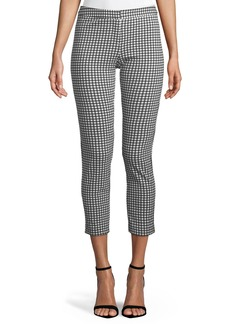 Skinny-Leg GIngham Crop Pants