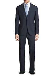 Neiman Marcus Slim-Fit Dot-Print Two-Piece Suit