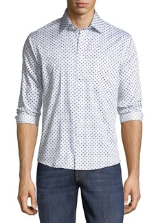 Neiman Marcus Slim-Fit Fancy Dobby Sport Shirt