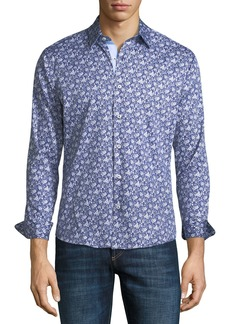 Neiman Marcus Slim-Fit Floral Wear-It-Out Sport Shirt