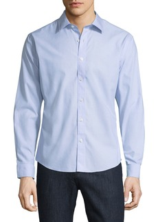 Neiman Marcus Slim-Fit No-Iron Dobby-Textured Sport Shirt