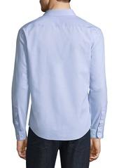 Neiman Marcus Slim-Fit No-Iron Dobby-Textured Sport Shirt