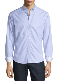 Neiman Marcus Slim-Fit Regular-Finish Wear-It-Out Dobby Textured Sport Shirt