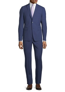 Neiman Marcus Slim-Fit Two-Piece Pinstriped Wool Suit