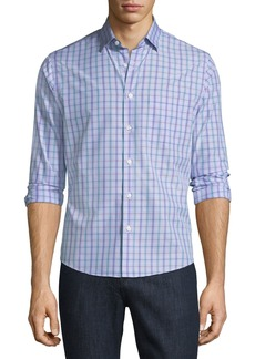 Neiman Marcus Slim-Fit Wear-It-Out Check Sport Shirt