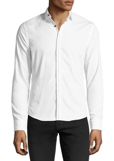 Neiman Marcus Slim-Fit Wear It Out Solid Sport Shirt