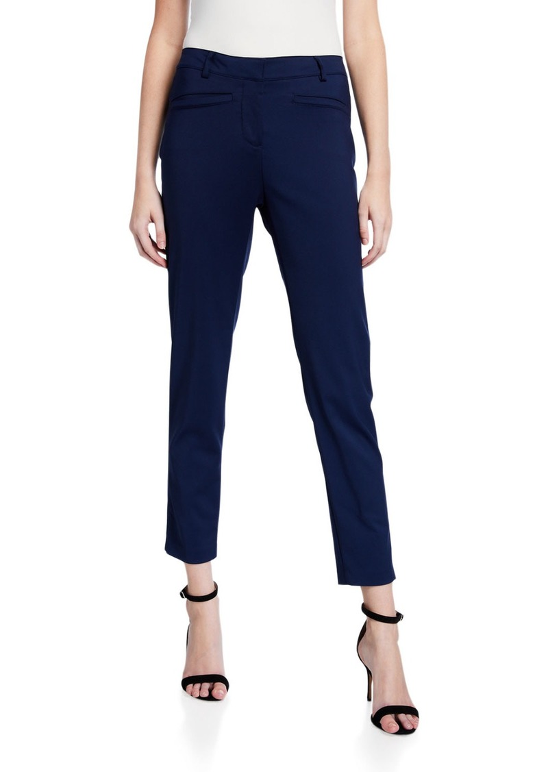 Neiman Marcus Slim-Fit Welt-Pocket Cropped Pants