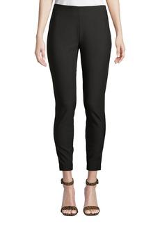 Neiman Marcus Slim-Leg Twill Pants