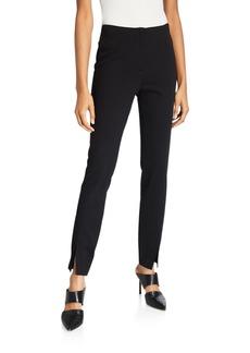 Neiman Marcus Slit Front High Tech Slim Pants