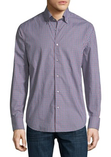 Neiman Marcus Small Gingham Sport Shirt