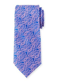 Neiman Marcus Small-Paisley Silk Tie