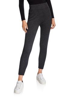 Neiman Marcus Solid Cashmere Jogger Pants