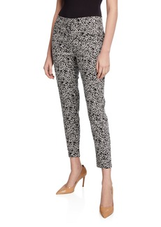 Neiman Marcus Squiggle Printed Trousers