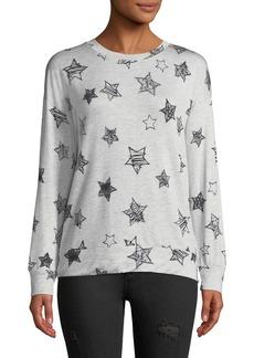 Neiman Marcus Printed Pullover Sweatshirt