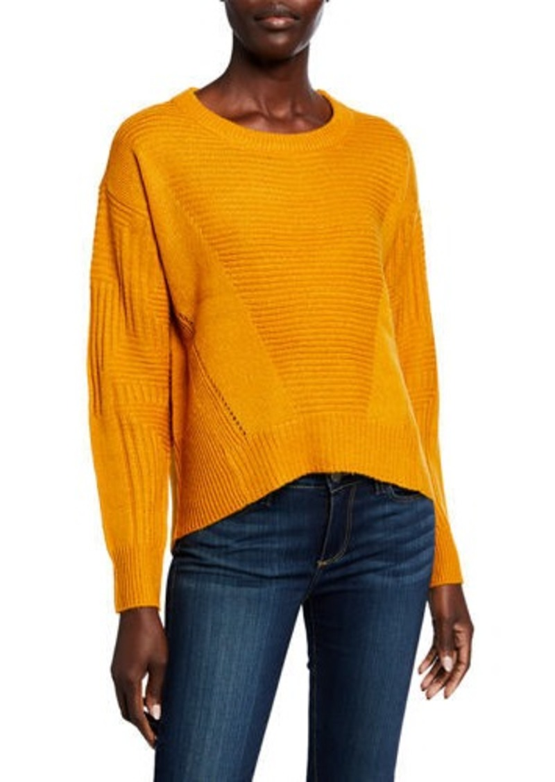 Neiman Marcus Stitch Long-Sleeve Sweater