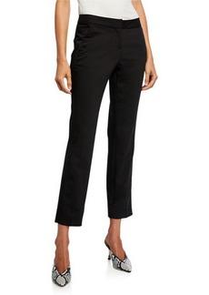 Neiman Marcus Straight-Leg Chino Ankle Pants