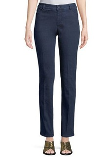 Neiman Marcus Straight-Leg Denim Pants