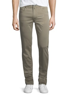Neiman Marcus Stretch-Cotton Five-Pocket Pants