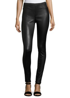 Neiman Marcus Stretch-Leather Leggings