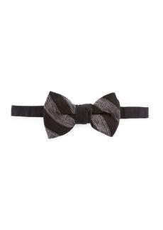 Neiman Marcus Stripe Chenille Bow Tie