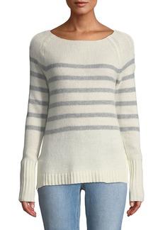 Neiman Marcus Striped Cashmere Pullover Sweater