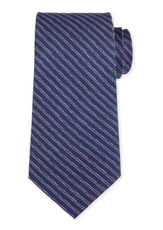 Neiman Marcus Striped Silk Tie