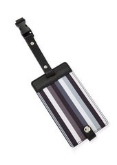 Neiman Marcus Striped Snap Luggage Tag