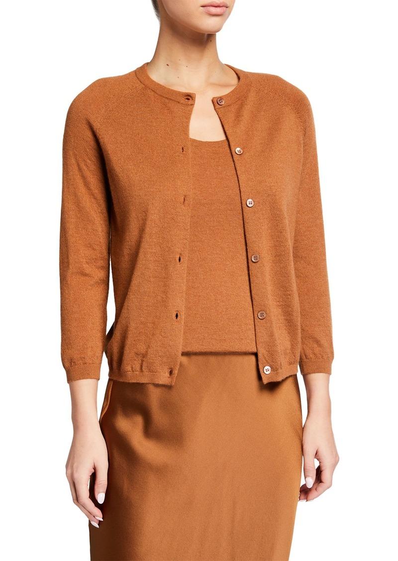 Neiman Marcus Superfine Cashmere Button-Front Cardigan