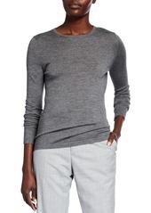 Neiman Marcus Superfine Cashmere Crewneck Sweater