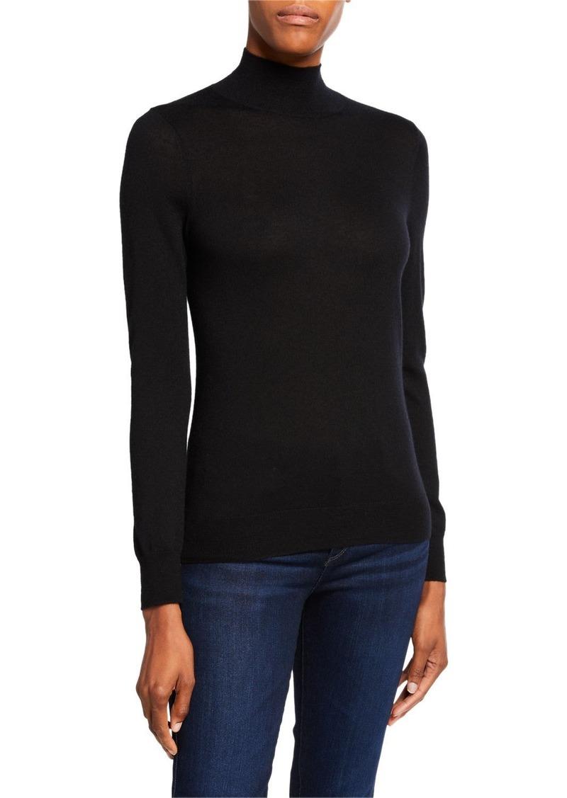 Neiman Marcus Superfine Cashmere Turtleneck Sweater