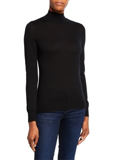 Neiman Marcus Superfine Cashmere Turtleneck Sweater