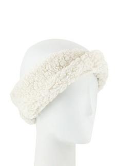 Neiman Marcus Teddy Fleece Twisted Headband