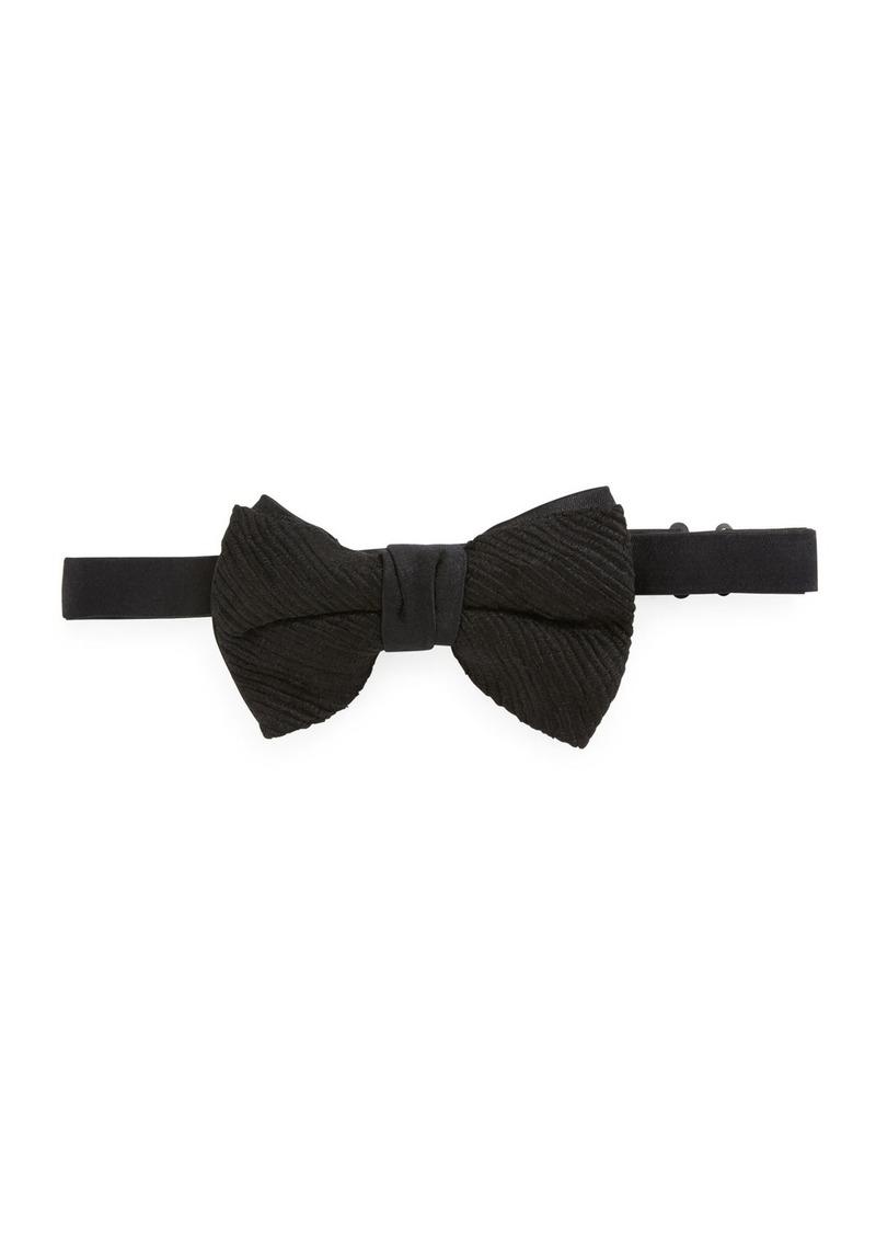Neiman Marcus Textured Silk Bow Tie
