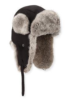 Neiman Marcus Trapper Hat w/ Fur Trim