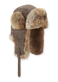 Neiman Marcus Trapper Hat w/ Fur Trim