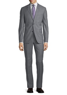 Neiman Marcus Two-Button Sharkskin Two-Piece Suit