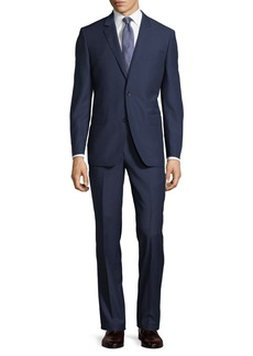 Neiman Marcus Two-Button Textured Two-Piece Suit
