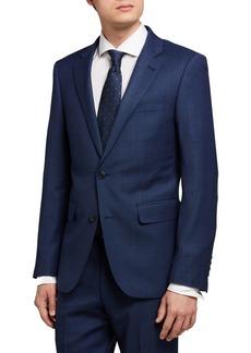 Neiman Marcus Two-Piece Trim-Fit Wool Suit