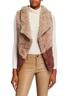 Neiman Marcus Two-Tone Faux-Fur Vest