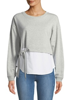 Neiman Marcus Twofer Sweatshirt with Shirttail Hem