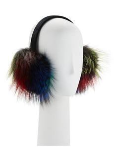 Neiman Marcus Velvet Fox Fur Earmuffs