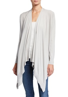 Neiman Marcus Waterfall Open-Front Cardigan