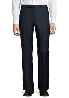 Neiman Marcus Wool Straight-Leg Trousers