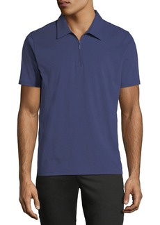 Neiman Marcus Zip-Up Polo Shirt