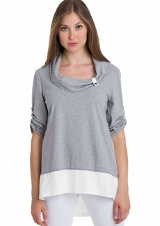 Neon Buddha Women's Comfy Cotton 3/4 Sleeves Tunic Top